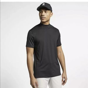 Tiger Woods Nike   Mock Neck Black DriFit Shirt M